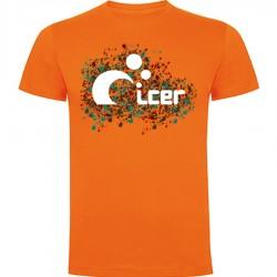 Camiseta Moteado Naranja
