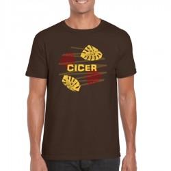 Camiseta Tropical  Chocolate