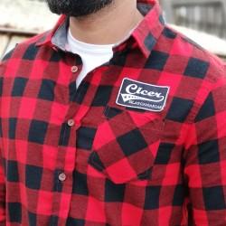 Camisa a Cuadros Rojo Negro...
